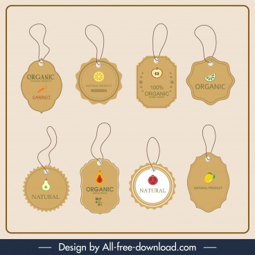 sale tag templates elegant classical hanging shapes