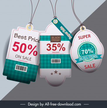 sale tag templates modern elegant checkered decor