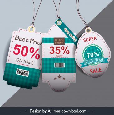 sale tag templates modern elegant checkered decor