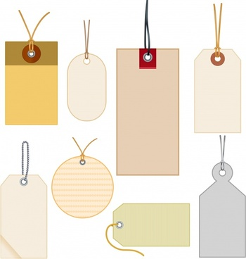tags templates flat shapes blank sketch