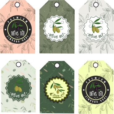 sale tags templates collection olive icon decoration