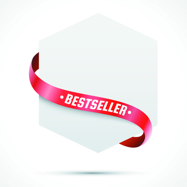 sale tags with red ribbon vector
