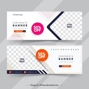 sale voucher templates elegant bright checkered geometric decor