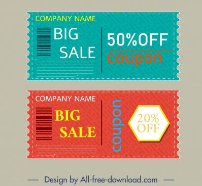 sale voucher templates modern colored flat design
