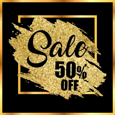 sales backdrop grunge glittering golden decor