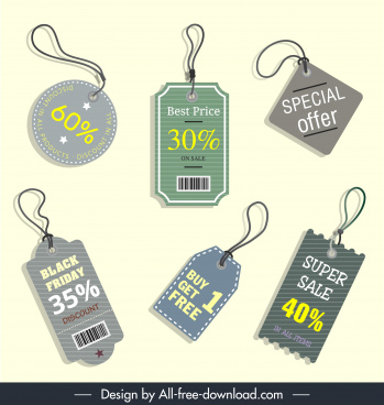sales badges templates classical flat shapes