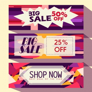 sales banner templates colorful modern decor