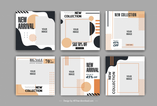 sales banner templates simple flat contemporary decor