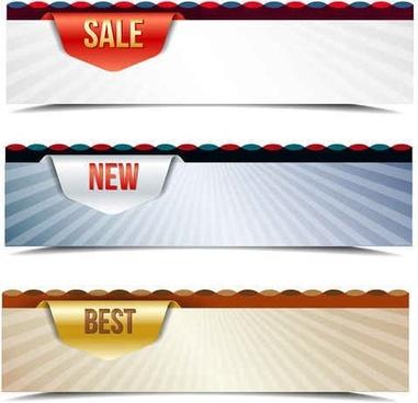 sales banner vector