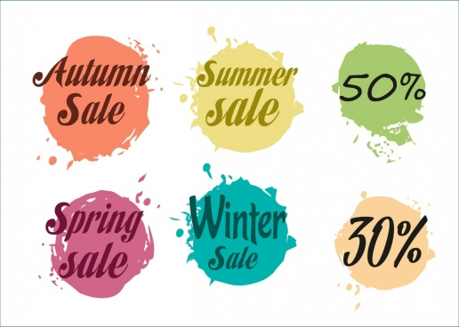 sales design elements grunge water color decor