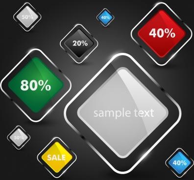 sales design elements shiny multicolored squares design
