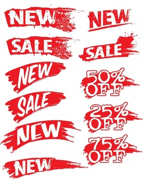 sales discount decorative vector