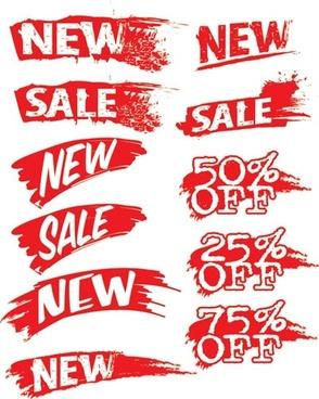 sales discount ink vector