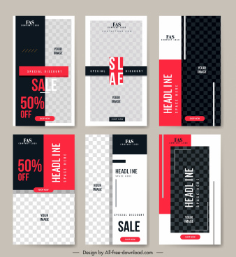 sales leaflet templates elegant black white checkered decor