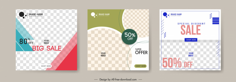 sales poster templates elegant checkered decor