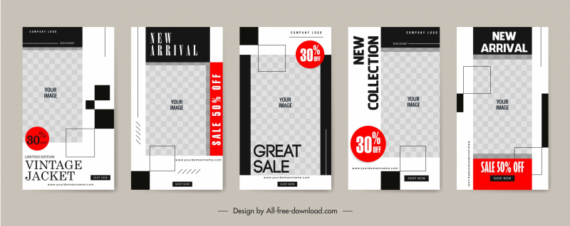 sales poster templates flat checkered decor