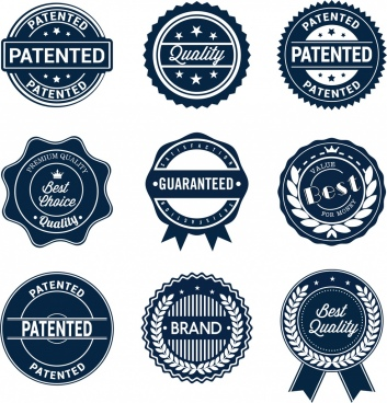 sales promotion labels sets classical circles icons
