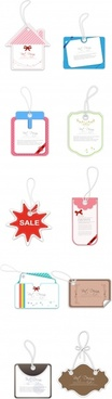 sales tags templates modern paper cut shapes
