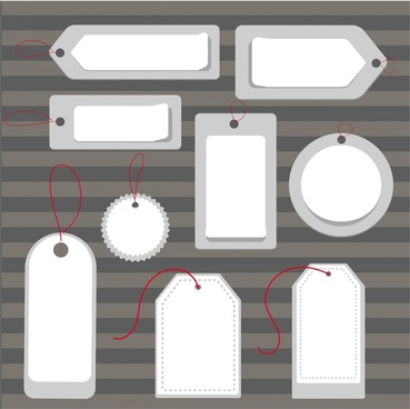 sales tags collection illustration with various blank shapes