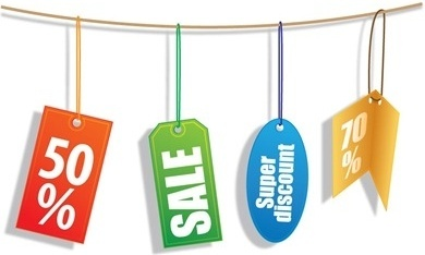 sales tags collection various shapes decoration hanging style