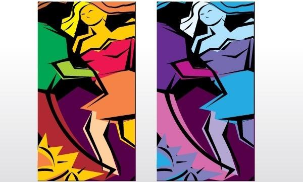 Salsa Dancing Abstract illustration