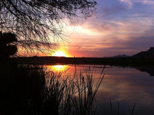 salt river arizona sunset