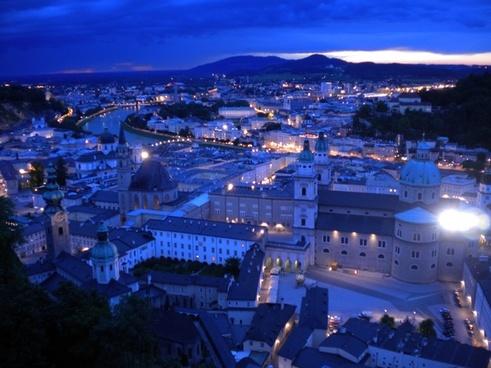 salzburg night austria