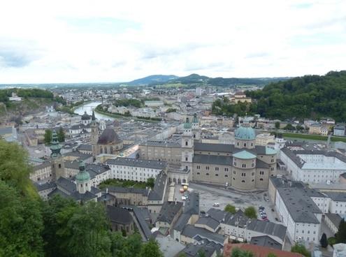 salzburg old town city