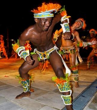 samba dancer colorful