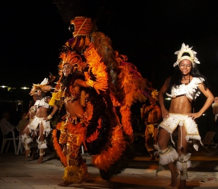 samba dancer persons