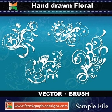 sample file from hand drawn floral vector and photoshop brush