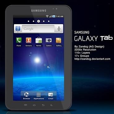 Samsung Galaxy Tab P1000 PSD