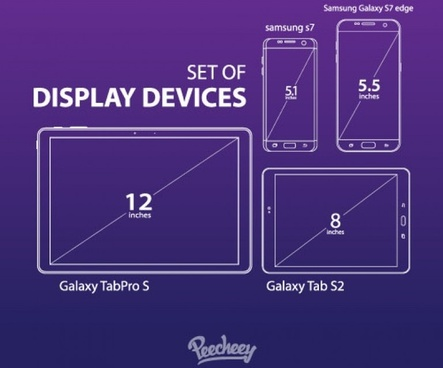 samsung mobile devices outline templates