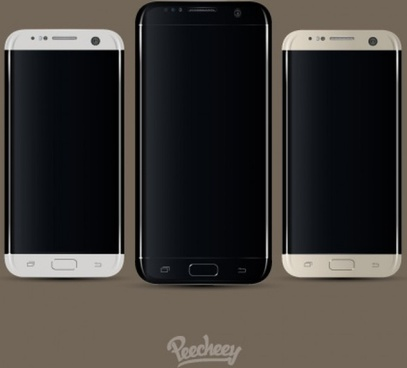 samsung s7 edge smartphone mockup realistic design