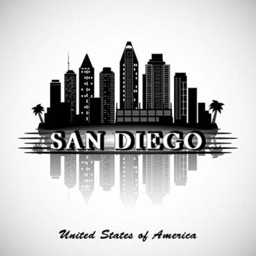 san diego background vector