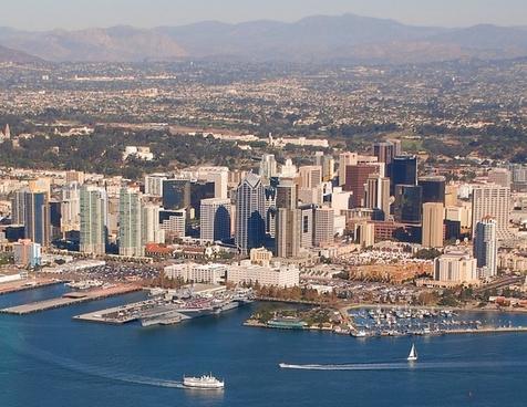 san diego california aerial view
