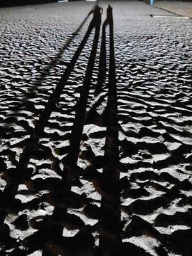 sand beach shadow