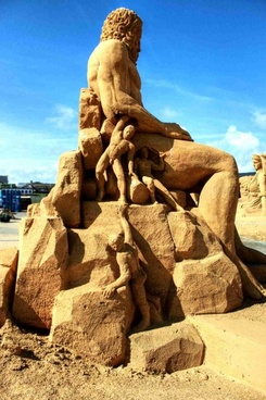 sand sculpture sandworld