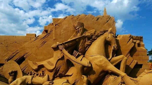 sandsculpting sand art