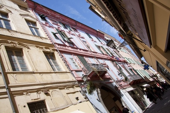 sanremo old town shopping street