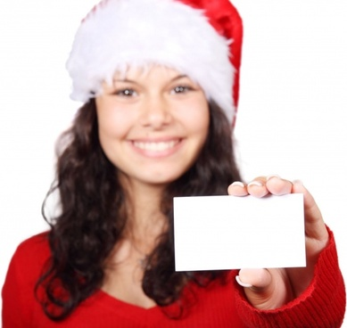 santa and business card