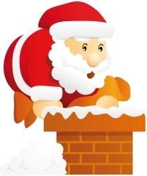 Santa chimney
