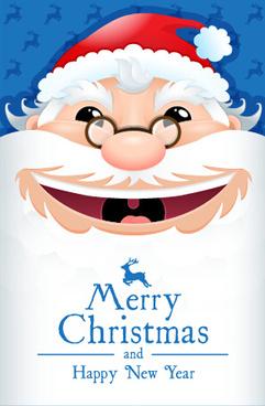 santa christmas and new year cute vector