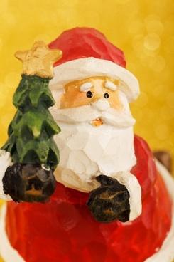 santa claus christmas tree beard