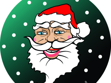 santa claus free stock vector image