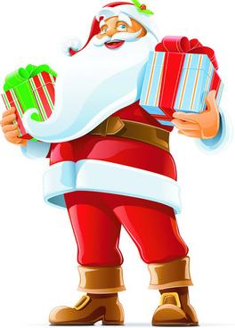 santa claus happy christmas vector