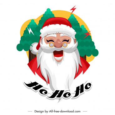 santa claus icon funny cartoon character sketch