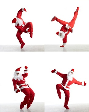 santa claus street dance highdefinition picture