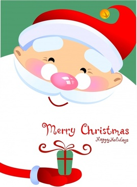 christmas background cute santa claus icon classical design