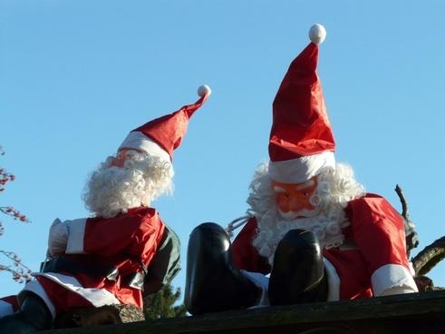 santa clauses ziipfelmuetzen christmas